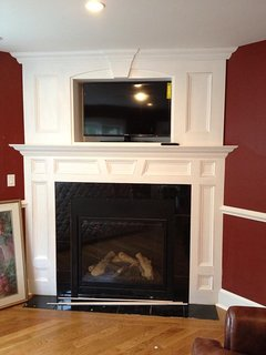 Fireplace in downstairs living room