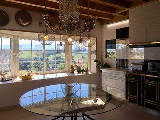 Appartement entièrement équipé avec Vue Panoramique, Jacuzzi, Sauna & Hammam, Estialescq