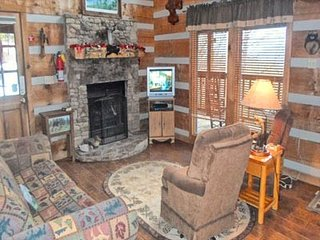 Living Room with TV and Electric Fireplace
