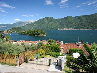 Wonderful view lake Como island, Sala Comacina