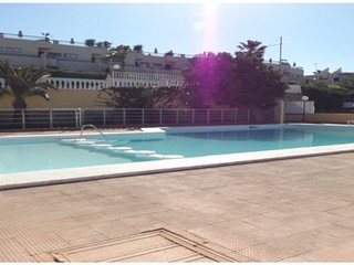 By pool close to Amadores Beach, Portorico