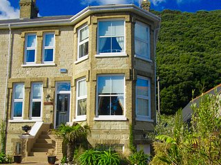 Front of Navarino Villa Ventnor with Parking for One Car on the Driveway.