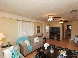 Comfortable Living Room Open Concept and 60' High Definition Plasma TV and BluRay Player