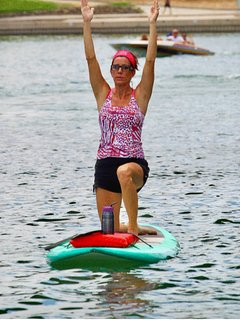 Relax and enjoy Standup Paddleboard Yoga.