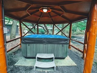 Hot Tub Open All Year Round!