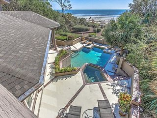 Oceanfront VIP 5 Bedroom Retreat in Sea Pines with Private Pool & Spa