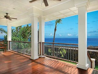 Honu La'e - 4 Bedroom, 4 Bath Ocean Front Vacation Home in Poipu with A/C