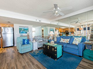 Main room with oceanfront views.