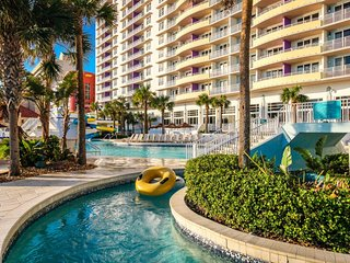 Luxurious oceanfront condo w/ shared pool, hot tub, and meandering lazy river