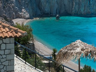 Beachfront luxury villa above the most exclusive beach on Lefkada