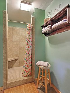 The other space has a private shower suite.
