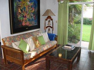 Living area, sliders to garden