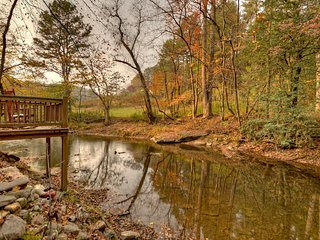 1A View of the Creek- Blue Ridge Cabin Rental