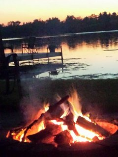 Firepit in backyard w/ complimentary firewood.