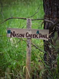 It's just a short walk from the lodge to Nason creek.