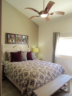High vaulted ceilings in every room complete with ceiling fans