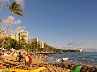 The Island Style at Waikiki Sunset