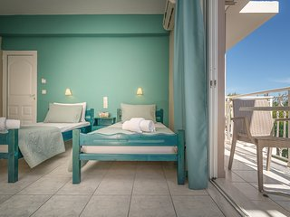 Nikos and Maria Studios - First Floor Studios with Private Balcony, Laganas