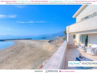 Apt in Villa ♥ 3bdrs 1btr Heating WiFi Terrace ♥PRIVATE Access to the Beach BBQ, Formia