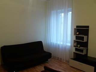 Large studio apartment in Petrogradskaya area in St. Peterburg Russia.