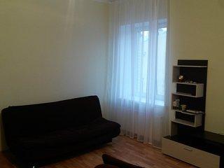 Large studio apartment in Petrogradskaya area in St. Peterburg Russia.