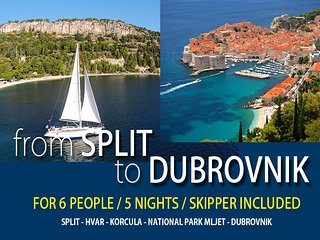 Sailing from SPLIT to DUBROVNIK