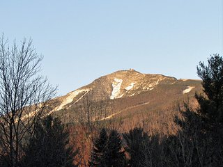 View of Whiteface Mountain from upper deck in late fall.