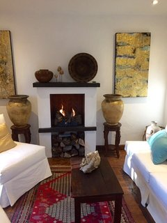 The living room of Casa Cho Co Latte. This part of the property can be rented separately.