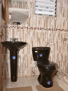 Personal bathroom with shower room and toilet area
