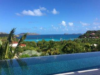 Modern Designer Ocean View St Barts Luxury Villa in St Jean