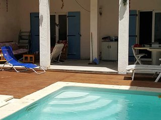 Maraussan French Villa rental with private pool near coast, sleeps 10