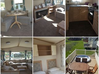 8 berth luxury caravan with decking in Tattershall lakes