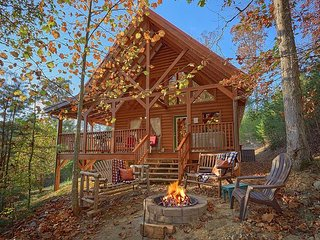 Gorgeous Semi-Private Two Bedroom Cabin Located Behind Dollywood with Hot Tub
