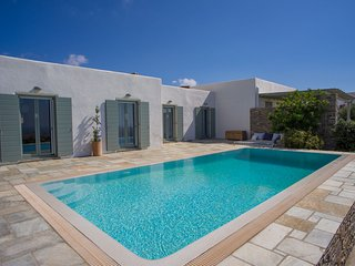 Top hill Villa Joy with private pool, close to Naoussa, Lefkes