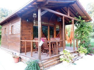 The Wooden Bungalow at Vale da Silva Villas rural farm