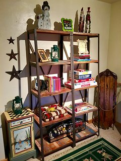 We're stocked with Books, board games, puzzles and cozy blankets for those chilly winter days/nights