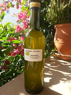 our own organic olive oil extra vergine