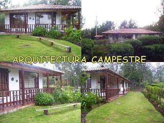 Alquiler de finca de recreo con casa quinta en Guatavita,excelente vista.