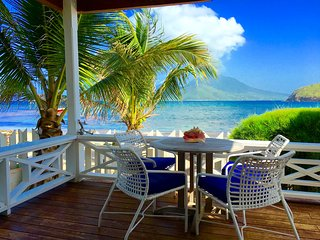 Nature and Beach Lovers Cottage right on the beach in St Kitts