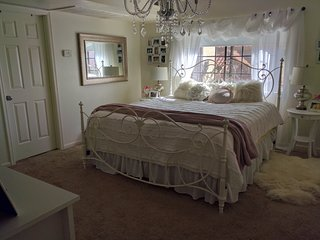 Master Bedroom with King Bed and Master Bathroom