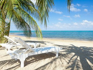 Enjoy the loungers on the beach at Lawson Rock