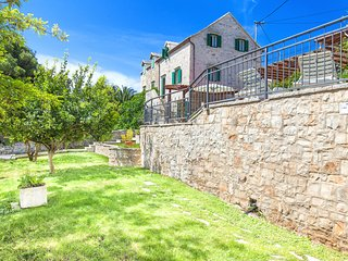 Traditional Dalmatian stone villa Bonaca with pool
