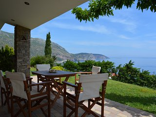 Evia quiet 2 storey villa with breathtaking views