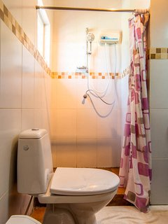 Bath room with water heater