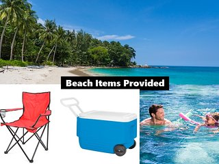 Ocean View & Beach up to 18! Cars, Biobay, Ferry! Free Beach items