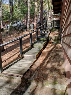 Walkway to Parking area from lower deck