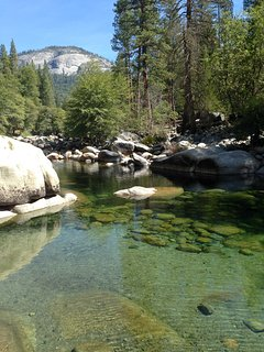 Our favorite swimming hole in Wawona during the summer. This cabin is located close by this beautiful river