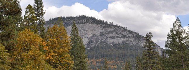 Beautiful Wawona dome in the Fall - a perfect view from cabin 44R