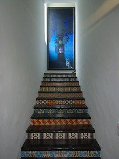 Ascend custom tile steps to Master Bedroom Suite