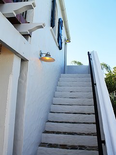 22-Stairway from Courtyard to Upper Queen Bedroom